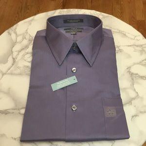 Apt. 9 Men's dress shirt purple L 16.5-17 34/35